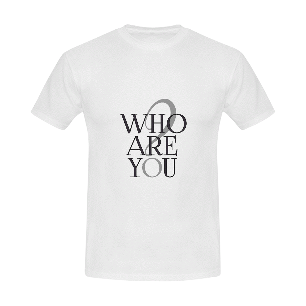 Who are you? Men's Slim Fit T-shirt (Model T13)