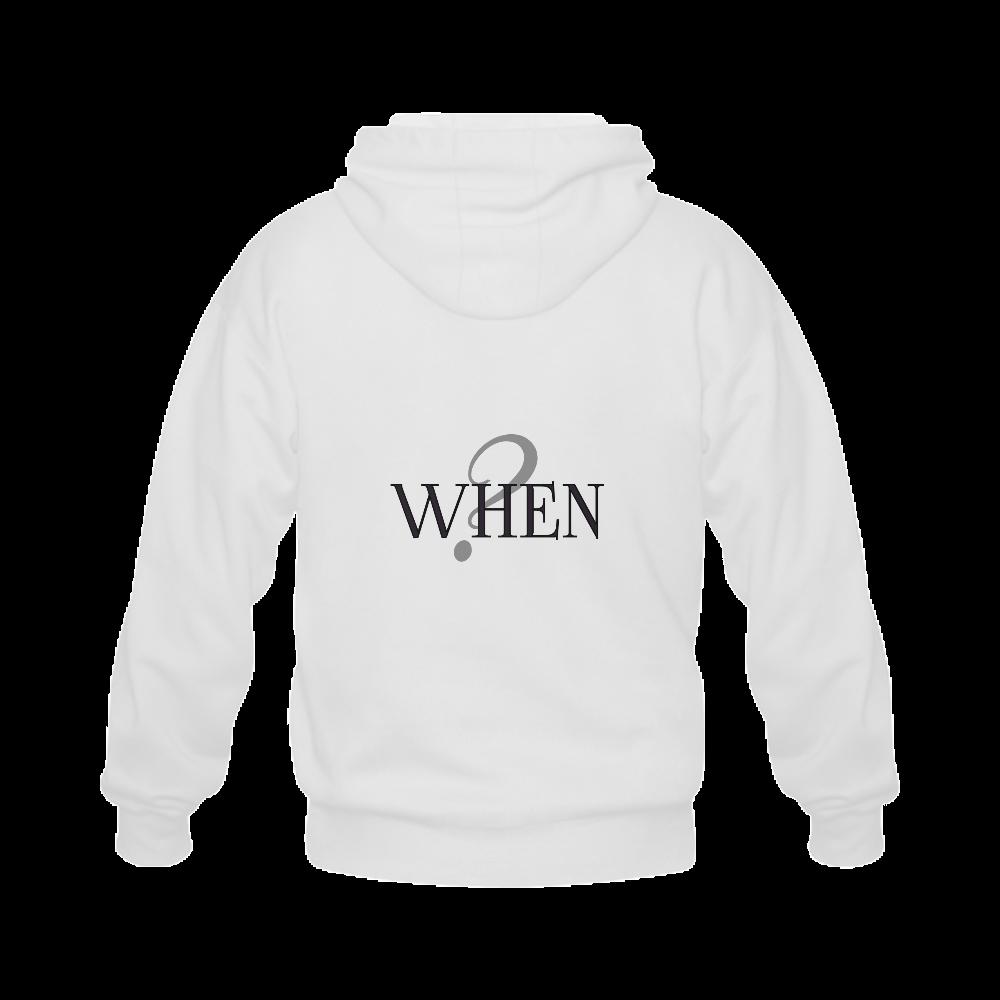 When? Gildan Full Zip Hooded Sweatshirt (Model H02)