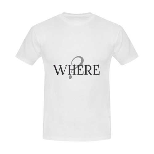 Where? Men's Slim Fit T-shirt (Model T13)