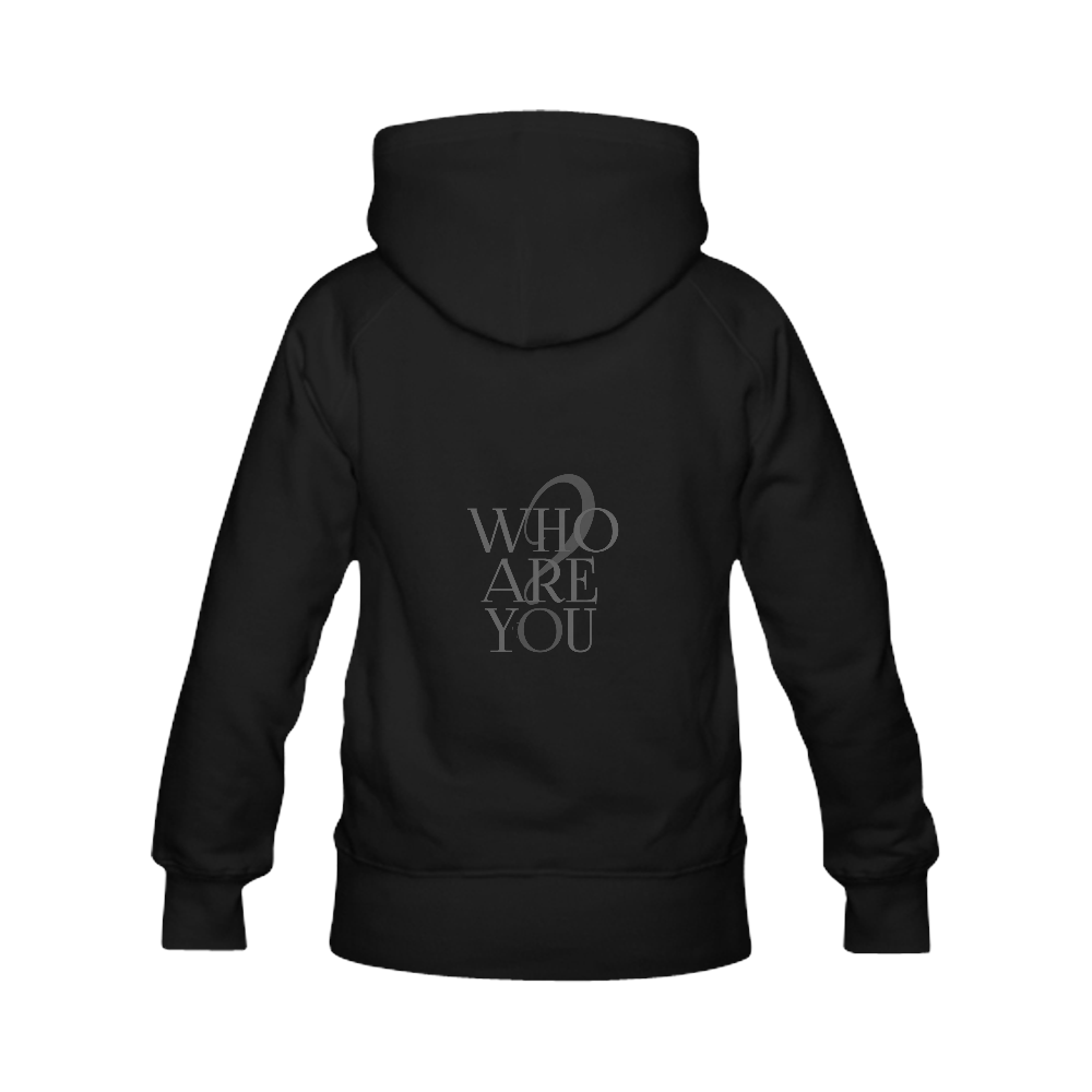 Who are you? Black   Women's Classic Hoodies (Model H07)