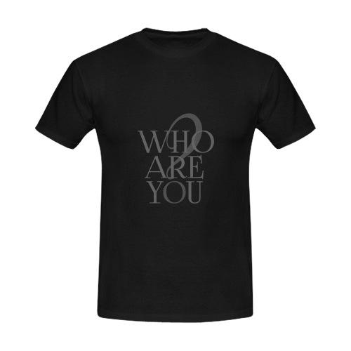 Who are you? Black | Men's Slim Fit T-shirt (Model T13)