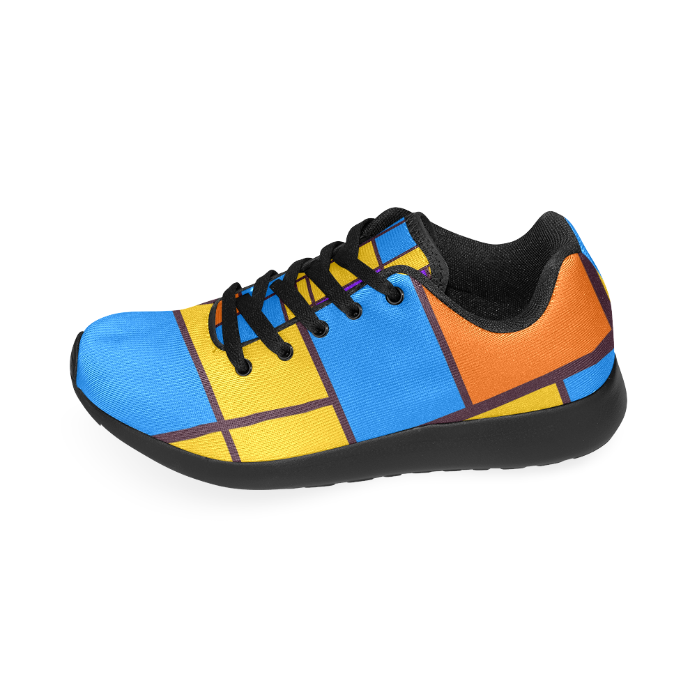 Shapes in retro colors Men's Running Shoes (Model 020)