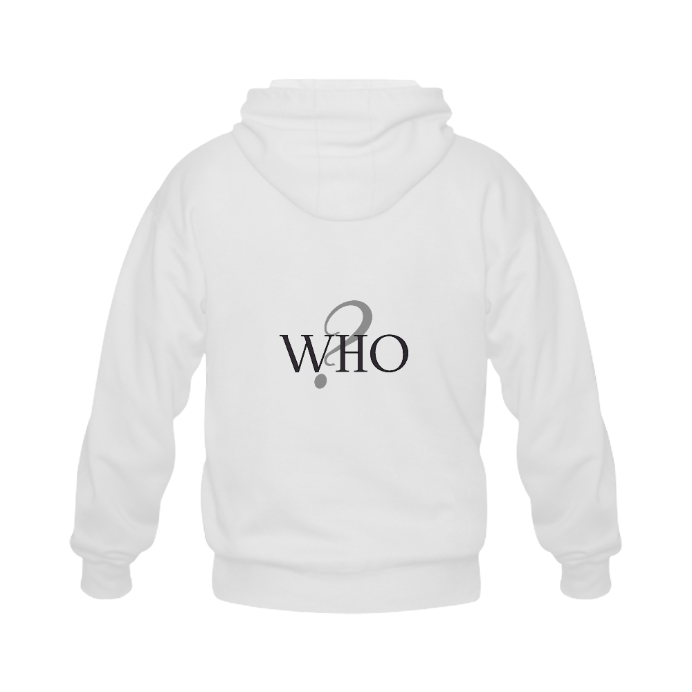 Who? Gildan Full Zip Hooded Sweatshirt (Model H02)