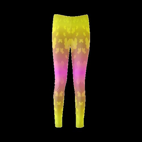 Pretty flowers in neon Cassandra Women's Leggings (Model L01)