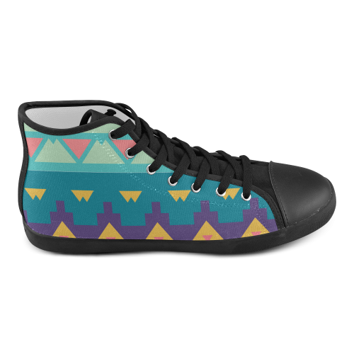 Pastel tribal design High Top Canvas Kid's Shoes (Model 002)