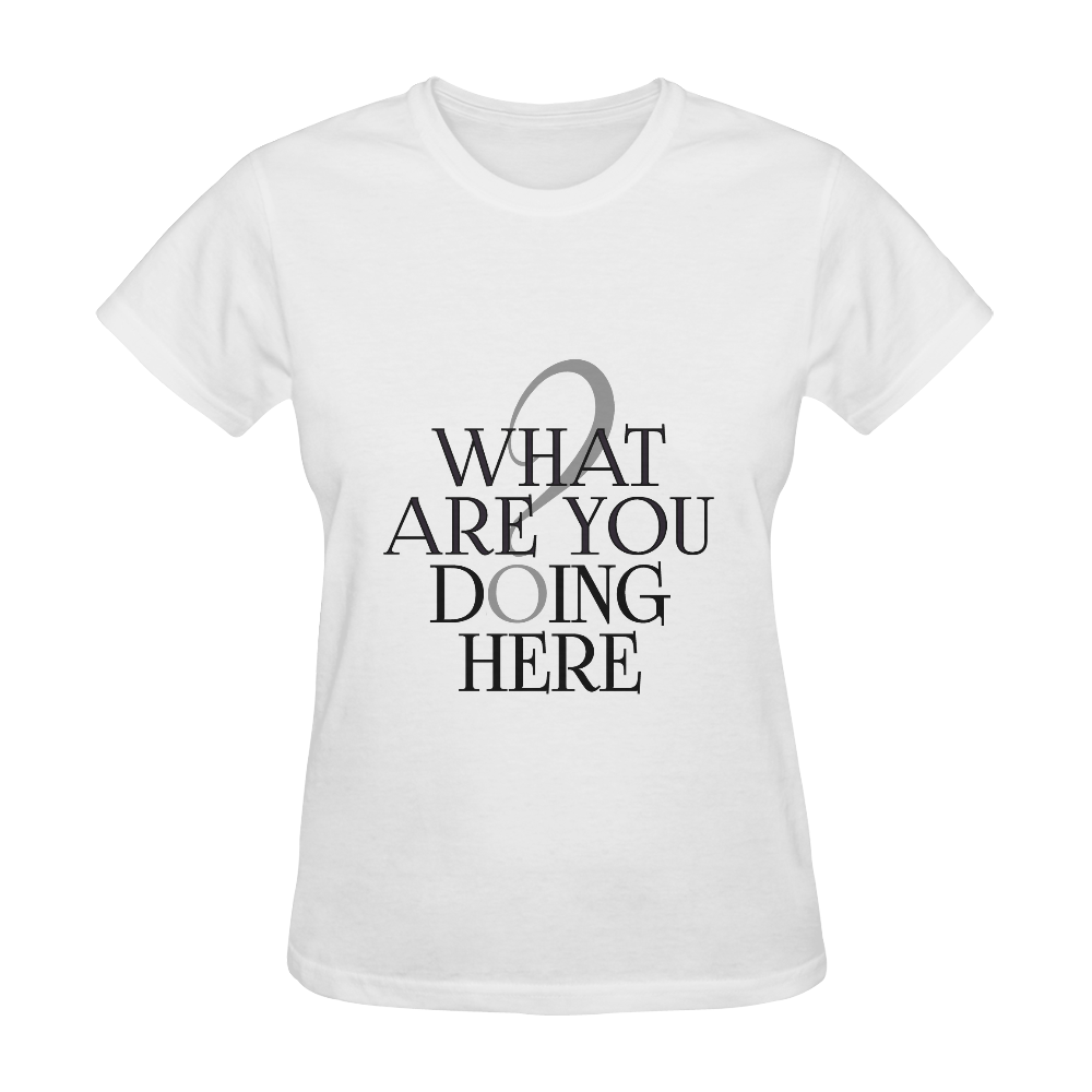 What are you doing here? Sunny Women's T-shirt (Model T05)