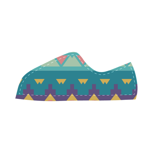 Pastel tribal design Canvas Kid's Shoes (Model 016)