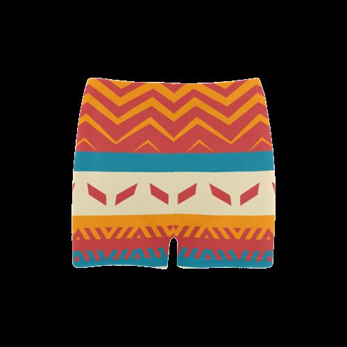 Tribal shapes Briseis Skinny Shorts (Model L04)