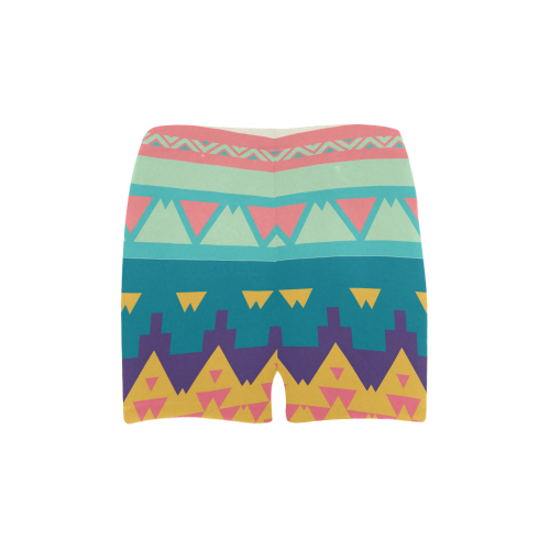 Pastel tribal design Briseis Skinny Shorts (Model L04)