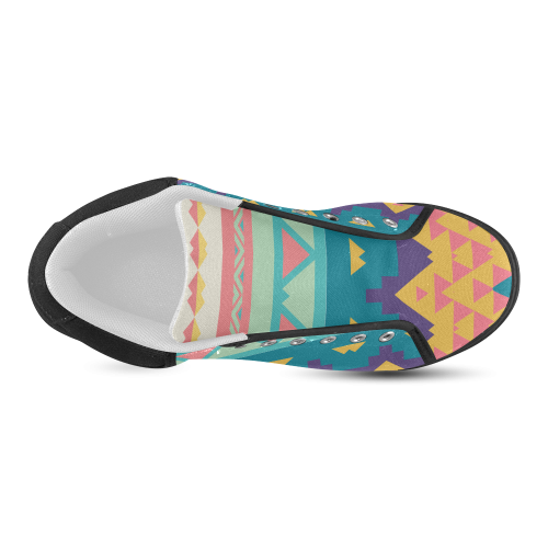 Pastel tribal design Men's Chukka Canvas Shoes (Model 003)