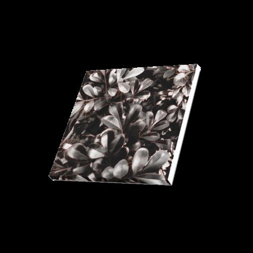 "Foliage #1 Red Edge - Jera Nour Canvas Print 16""x16"""