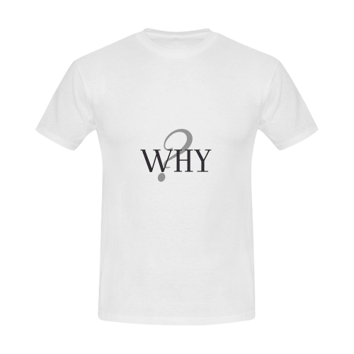 Why? Men's Slim Fit T-shirt (Model T13)