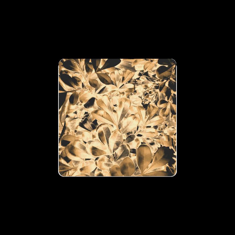 Foliage #2 Gold - Jera Nour Square Coaster