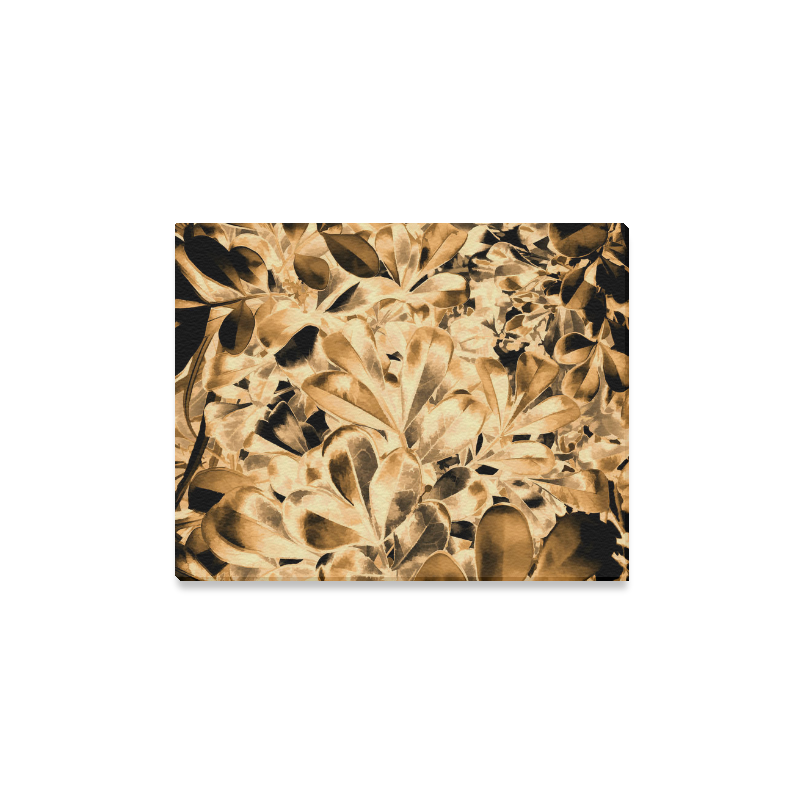 "Foliage #2 Gold - Jera Nour Canvas Print 14""x11"""