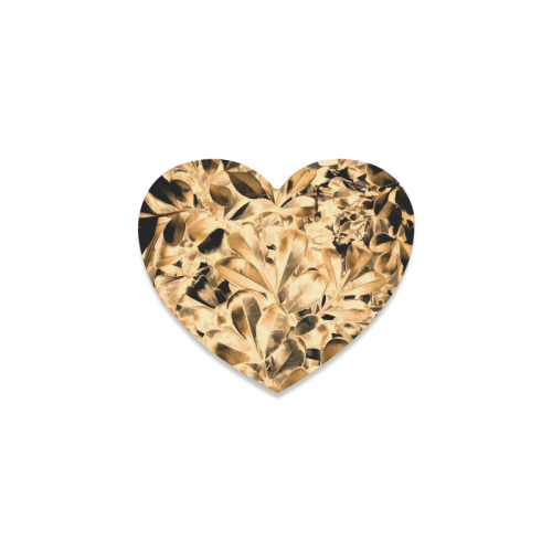 Foliage #2 Gold - Jera Nour Heart Coaster