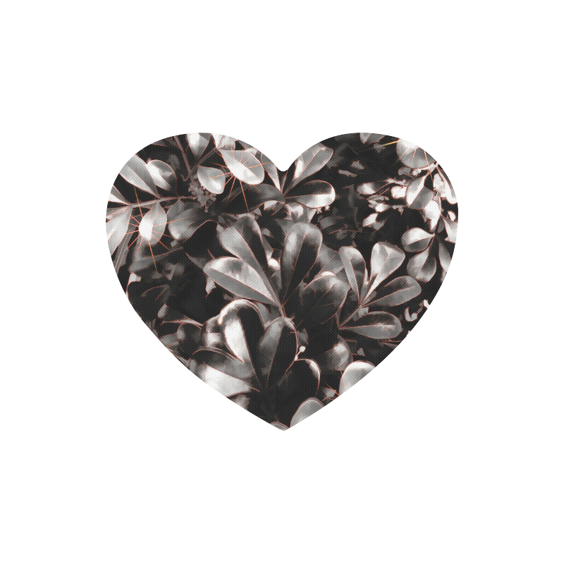 Foliage-1 Red Edge Heart-shaped Mousepad