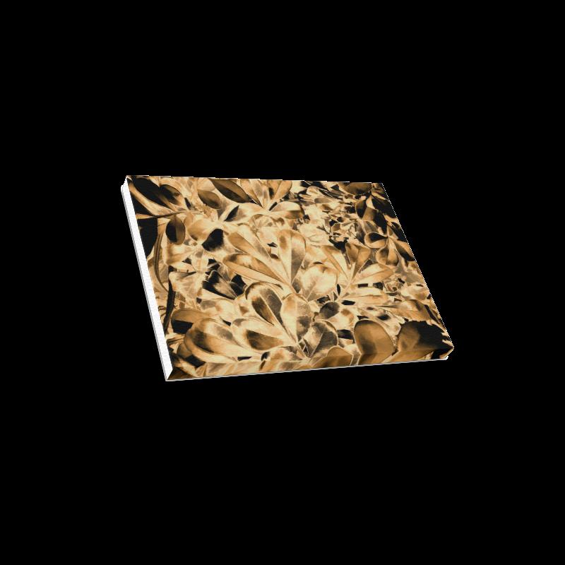 "Foliage #2 Gold - Jera Nour Canvas Print 16""x12"""