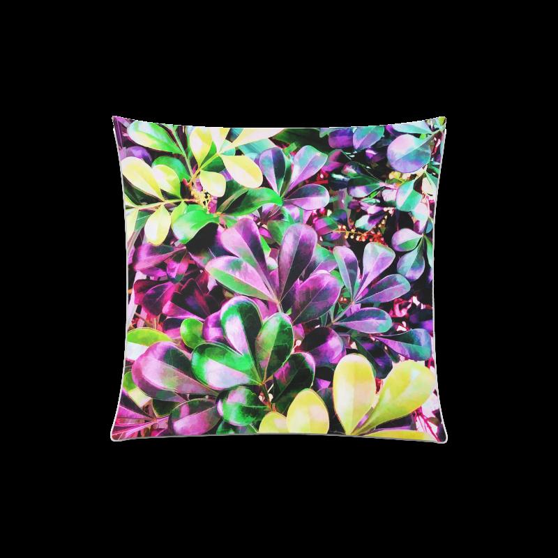 "Foliage-3 Custom Zippered Pillow Case 20""x20""(Twin Sides)"