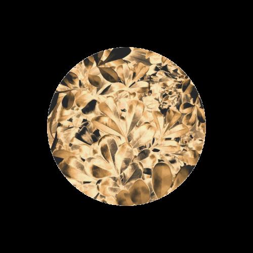 Foliage #2 Gold - Jera Nour Round Mousepad