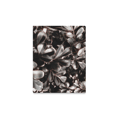 "Foliage #1 Red Edge - Jera Nour Canvas Print 14""x11"""