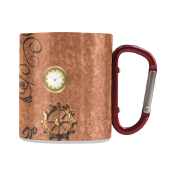 Steampunk, cute owl Classic Insulated Mug(10.3OZ)