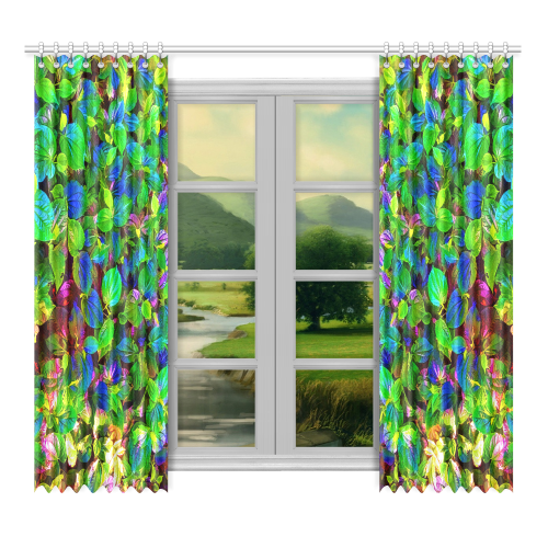 "Foliage-7 Window Curtain 52""x96""(Two Piece)"