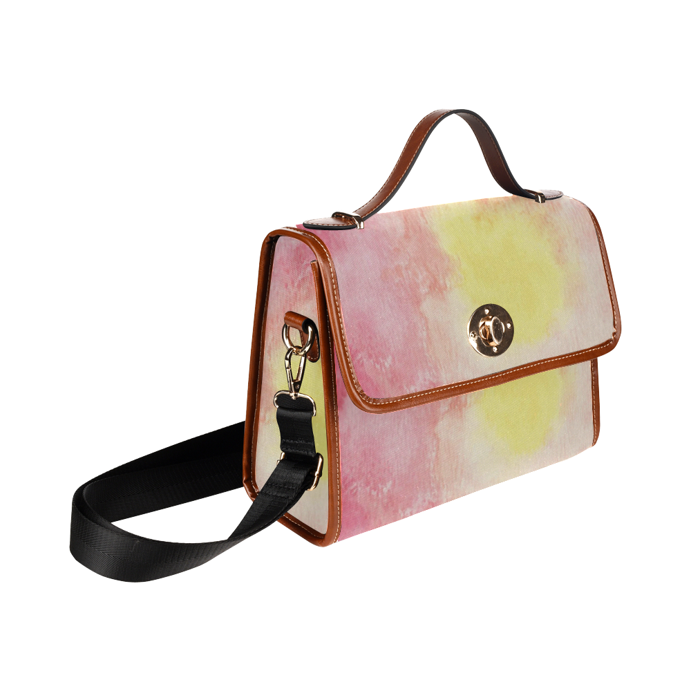 Red Floral Dream Waterproof Canvas Bag/All Over Print (Model 1641)
