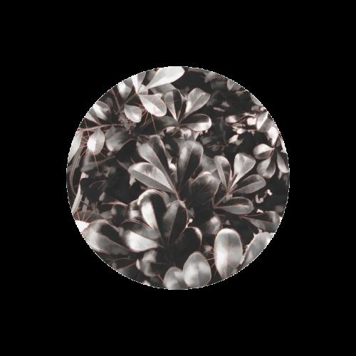 Foliage-1 Red Edge Round Mousepad