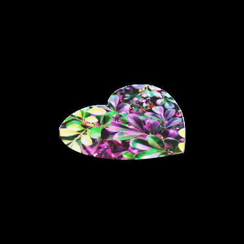Foliage-3 Heart Coaster