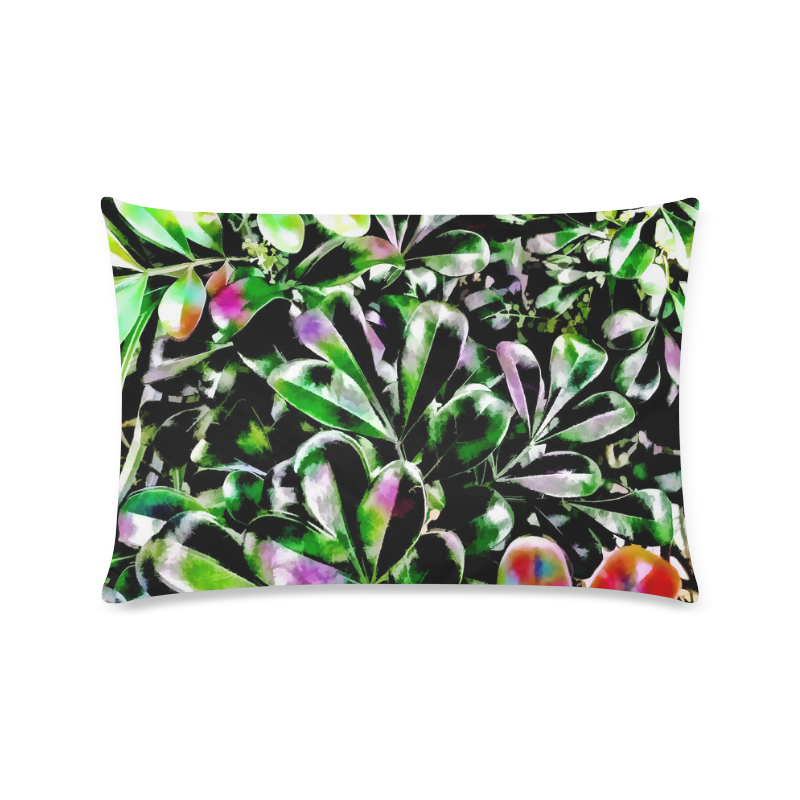 "Foliage-6 Custom Zippered Pillow Case 16""x24""(Twin Sides)"