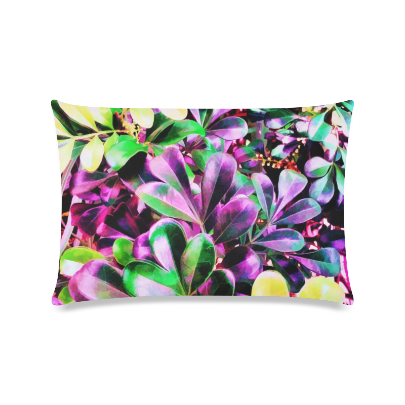 "Foliage-3 Custom Zippered Pillow Case 16""x24""(Twin Sides)"