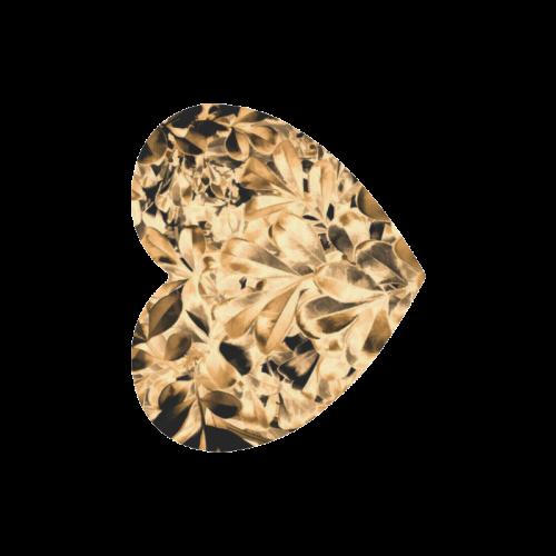 Foliage #2 Gold - Jera Nour Heart-shaped Mousepad