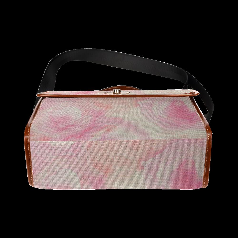 Rougissant Fleur Chanson Waterproof Canvas Bag/All Over Print (Model 1641)