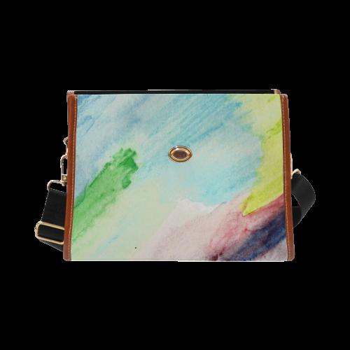 Ocean Rainbow Waterproof Canvas Bag/All Over Print (Model 1641)