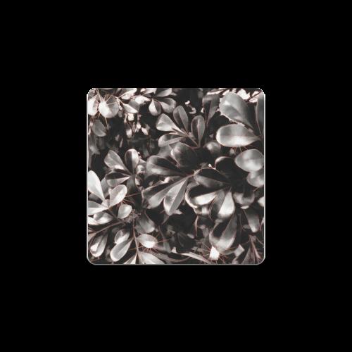 Foliage-1 Red Edge Square Coaster