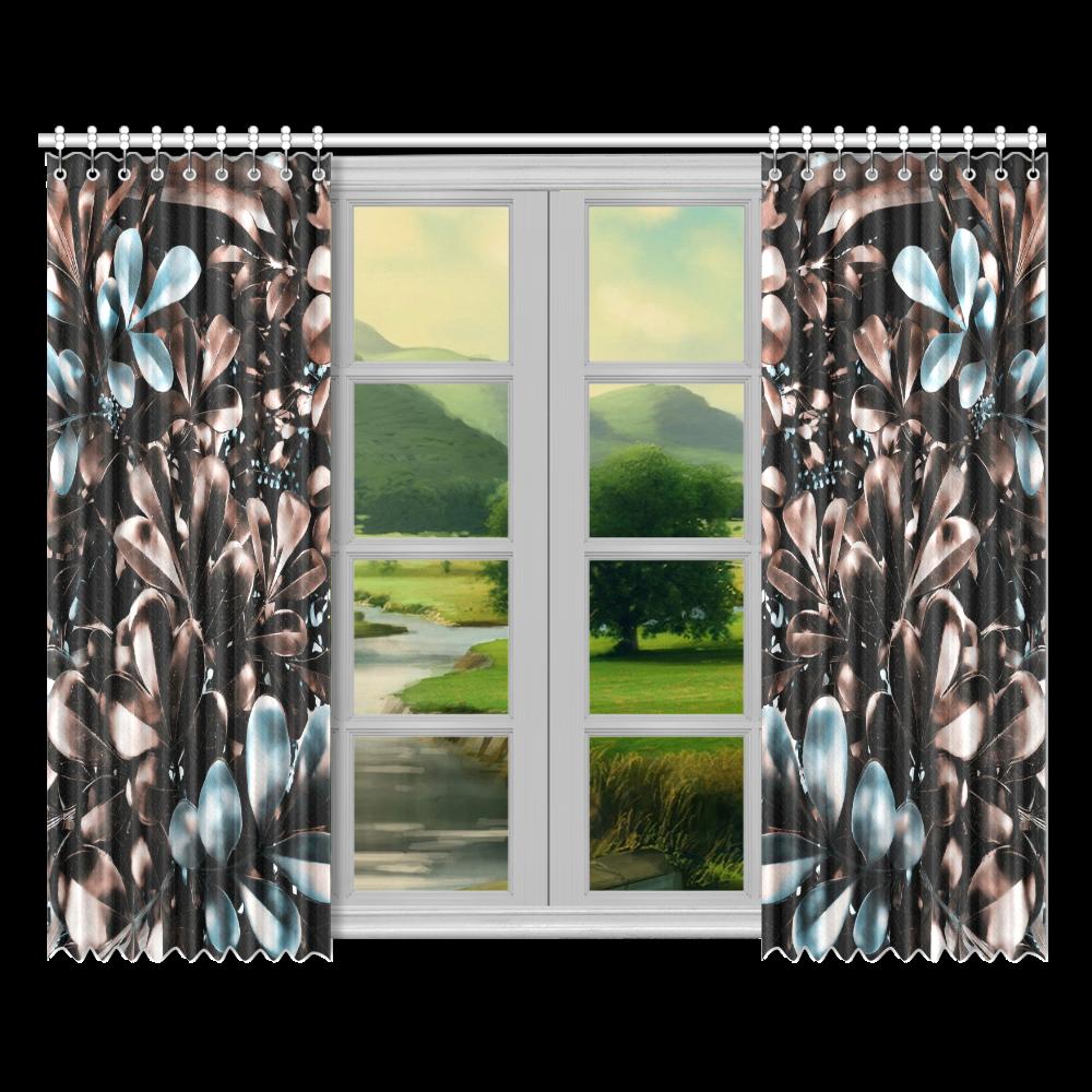 """Foliage-5 Window Curtain 52""""x84""""(Two Pieces)"""