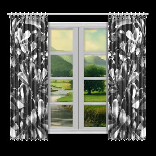"""Foliage #1 - Jera Nour Window Curtain 52""""x96""""(Two Piece)"""