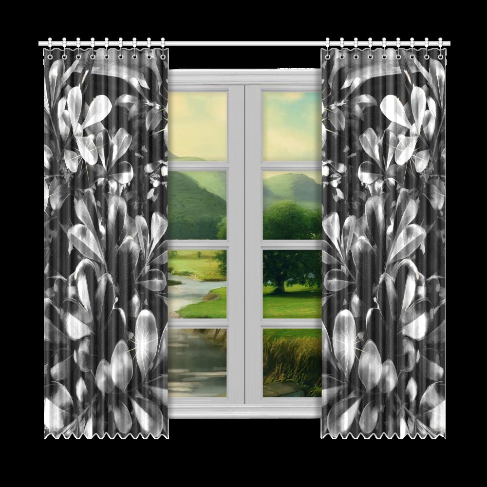 """Foliage #1 - Jera Nour Window Curtain 50""""x96""""(Two Piece)"""