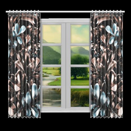 """Foliage-5 Window Curtain 52""""x96""""(Two Piece)"""
