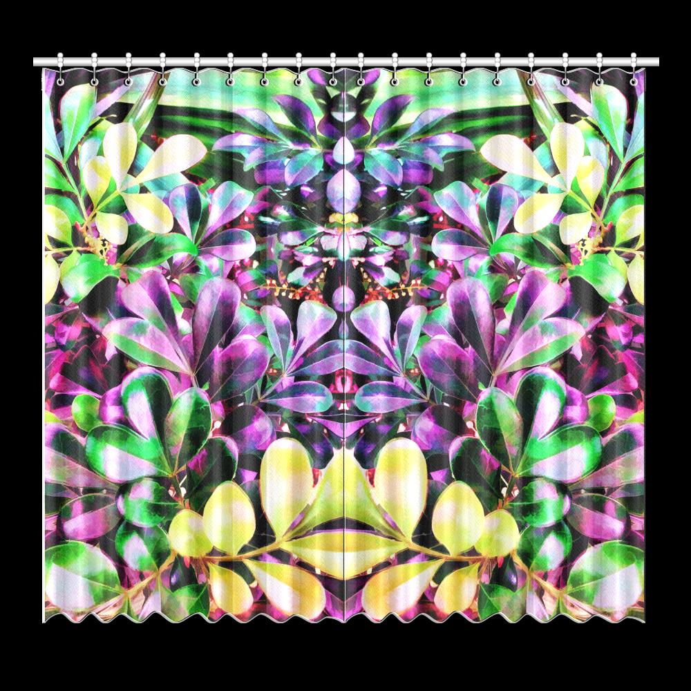"""Foliage-3 Window Curtain 52""""x96""""(Two Piece)"""