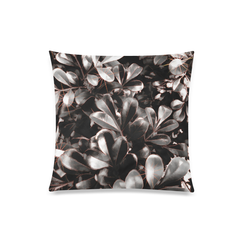 "Foliage #1 Red Edge - Jera Nour Custom Zippered Pillow Case 20""x20""(Twin Sides)"