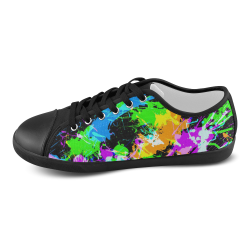 PAINT SPLASH Men's Canvas Shoes (Model 016)