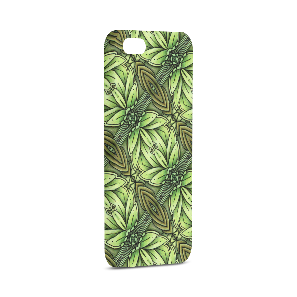 Mandy Green - Leaf Weave bold leaves Hard Case for iPhone SE