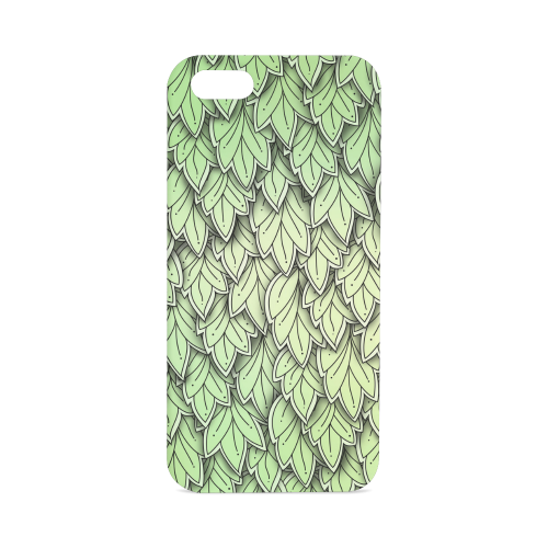 Mandy Green hanging Leaves Pattern Hard Case for iPhone SE
