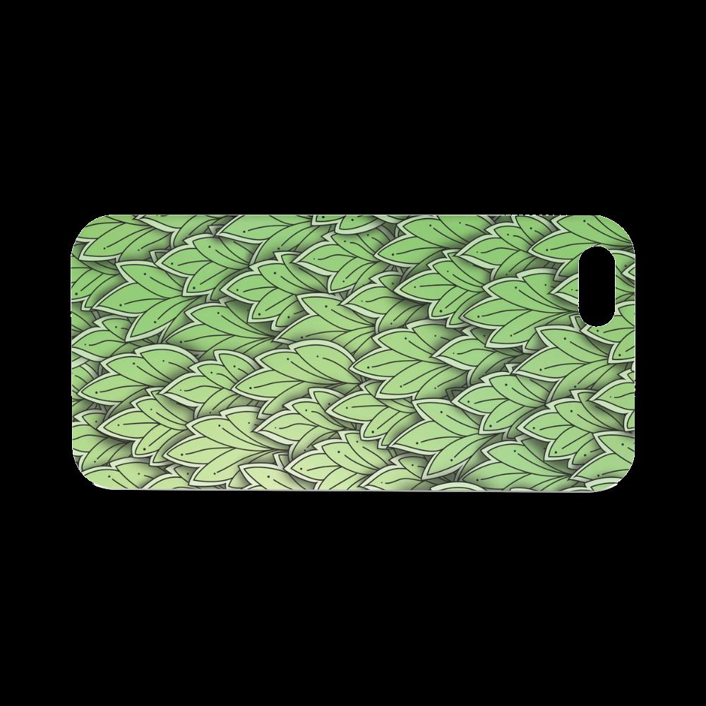 Mandy Green hanging Leaves Pattern darker Hard Case for iPhone SE