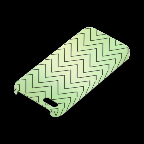 Mandy Green zigzag Chevron Hard Case for iPhone SE