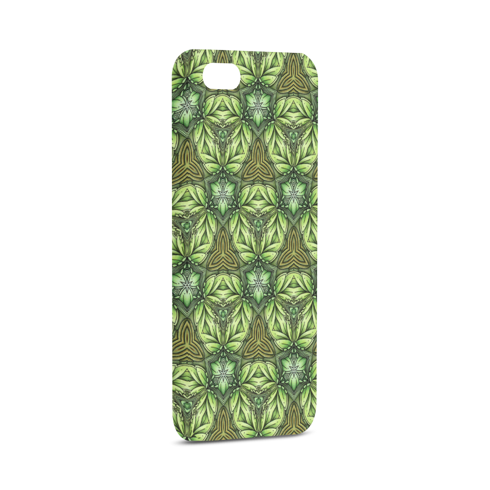 Mandy Green - Forest Triangles pattern Hard Case for iPhone SE
