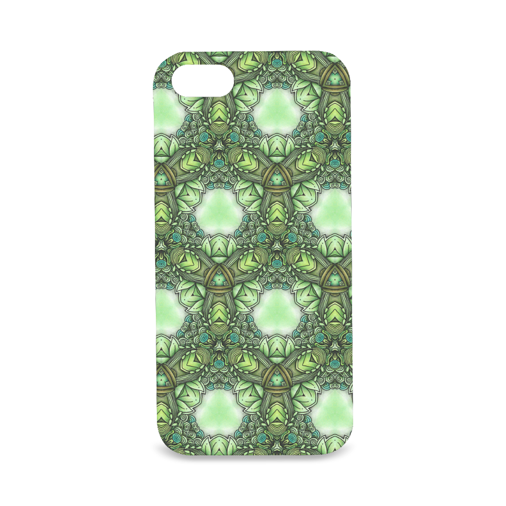 Mandy Green- Forest Circles pattern Hard Case for iPhone SE