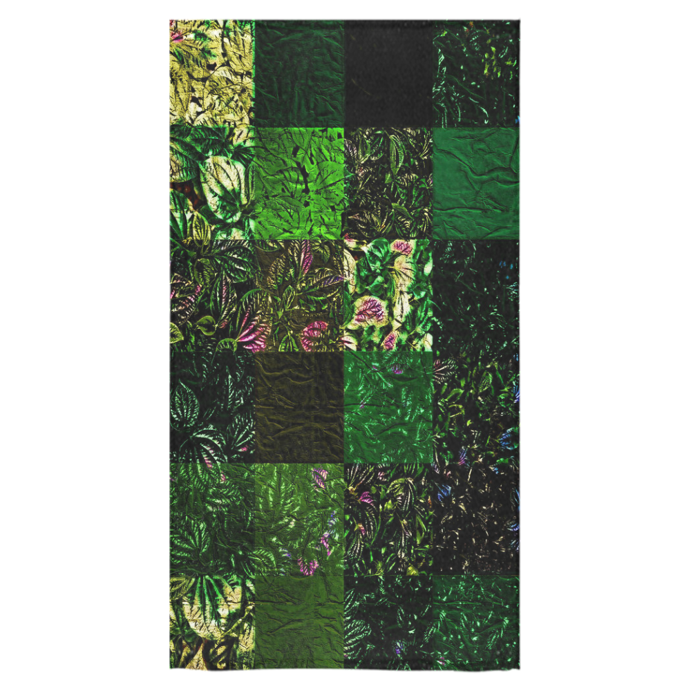 "Foliage Patchwork #1- Jera Nour Bath Towel 30""x56"""