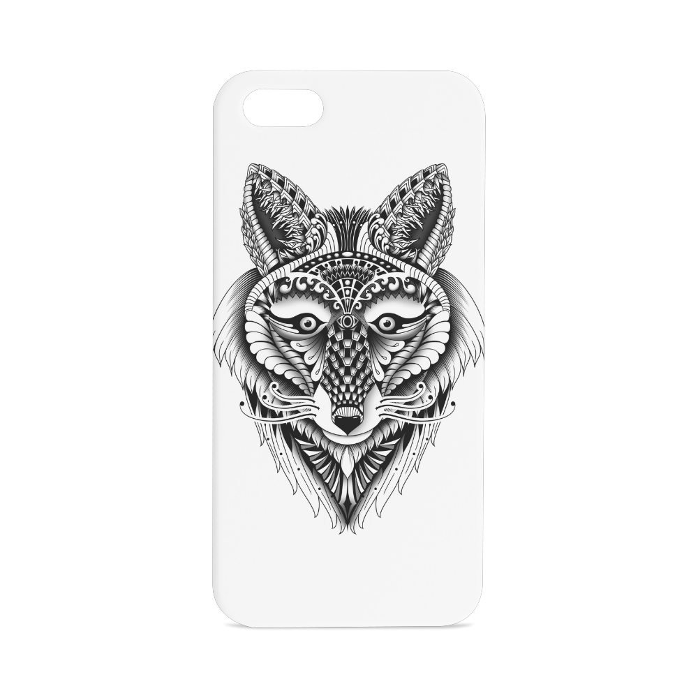 Foxy Wolf ornate animal drawing Hard Case for iPhone SE